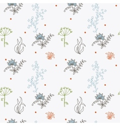 ornament seamless of floral graphic design vector image vector image