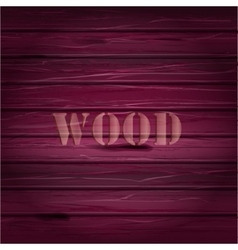 Pink wood texture background with text vector image vector image