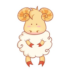 Sheep character of chinese new year symbol vector