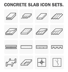 Slab icon vector