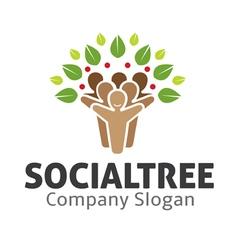 Social tree design vector