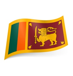 State flag of Sri Lanka vector image