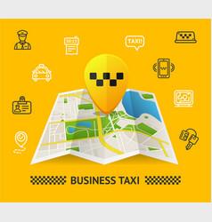 Taxi services concept vector