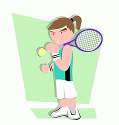 tennis player cartoon vector image