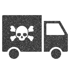 Toxic transportation car icon rubber stamp vector