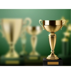 Trophy Awards Realistic Background vector image vector image