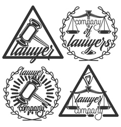 Vintage lawyer emblems vector