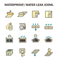 Waterproof icon vector