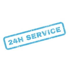 24h service text rubber stamp vector