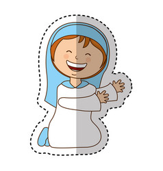 Virgin mary manger character vector