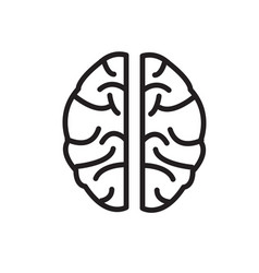 brain icon on white background brain icon sign vector image