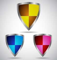 Set of security shield symbol icon vector image