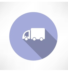Truck transport icon vector