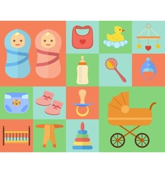 Baby icons set made in flat design vector