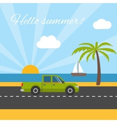 Summer vacation tourism vector