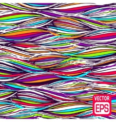 Abstract multicolor hand-drawn waves texture wavy vector