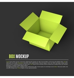 Open box mockup template vector