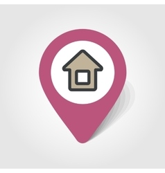 Home map pin icon vector