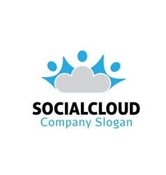 Social cloud design vector