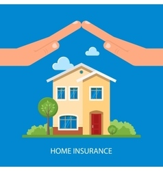 Home insurance concept in vector