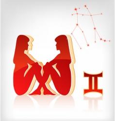 Gemini zodiac vector image