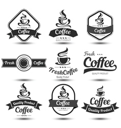 Coffee label 3 vector