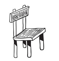 wooden chair doodle vector image