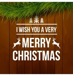 Merry christmas design typography lettering vector