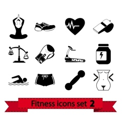 Fitness icon vector