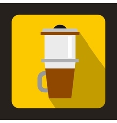 Mug for coffee icon flat style vector