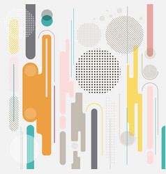 abstract geometric dynamic element multicolor vector image