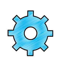 Blue gear symbol process industry vector