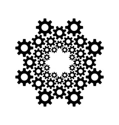 circle gear design template vector image