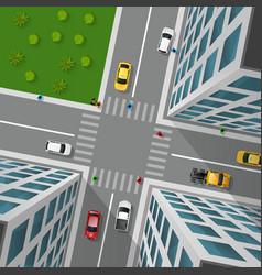 City street top view vector