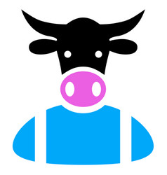 Cow boy icon vector