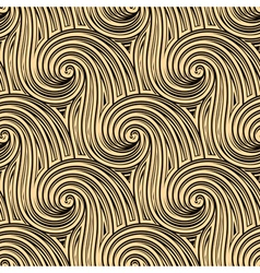 Curly seamless waves vector image vector image
