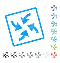 Cyclone arrows icon rubber watermark vector