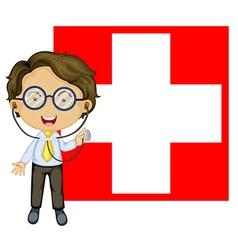 Doctor switzerland flag vector