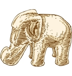 Elephant figurine isolated over white vector