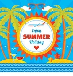 Enjoy summer holiday - concept banner vector image vector image