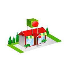 icon shop vector image