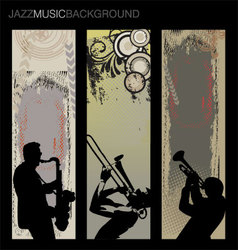 jazz music background set vector image vector image