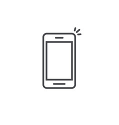 mobile phone icon line art outline vector image