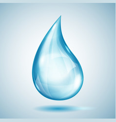 One big blue drop vector