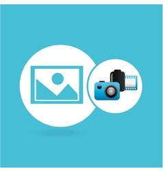 Photographic camera image negative roll vector