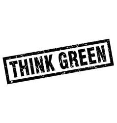 Square grunge black think green stamp vector