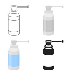 Throat spray icon cartoon single medicine icon vector