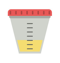 Urine test container vector
