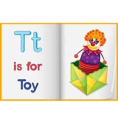 A picture of a toy in a book vector image
