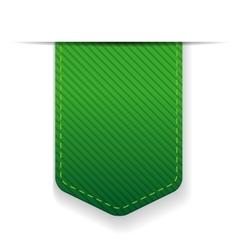 Empty green ribbon isolated vector image